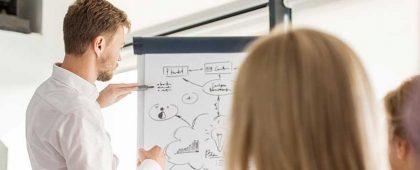 Im Deutsch Halbniveaukurs erweitern die Teilnehmenden ihre Deutschkompetenzen gezielt. Unterricht in Ihrer Firma in Zürich, Luzern, Zug und Schwyz.